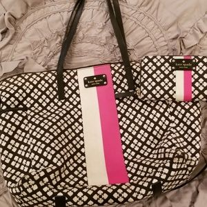 Kate spade diaper bag and wallet
